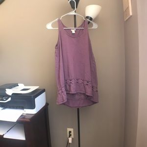 Purple tank top flowy
